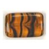 Glass Bead Flat Rectangle 19x12mm Tortoise - Strung